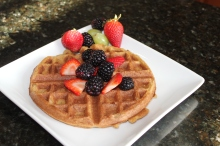 Sunday Morning Paleo Coconut Waffles: CrazyFitMama.com
